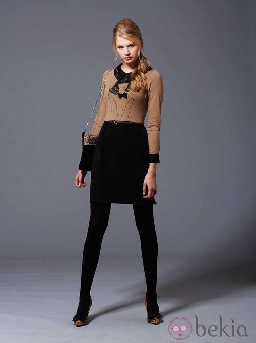 Camiseta marrón y falda de la colección otoño/invierno 2013/2014 de Pennylane