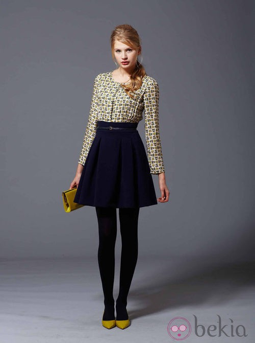 Falda con vuelo y blusa de la colección otoño/invierno 2013/2014 de Pennylane