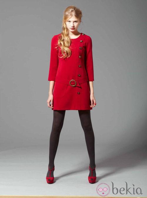 Abrigo rojo de la colección otoño/invierno 2013/2014 de Pennylane