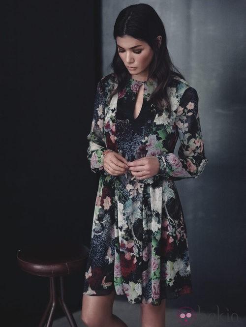 Vestido estampado de la colección otoño/invierno 2013/2014 de Juanjo Oliva para Elogy