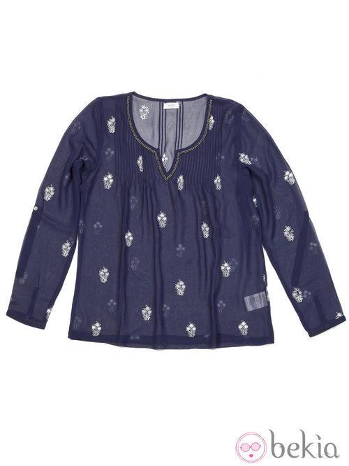 Blusa azul de la colección otoño/invierno 2013/2014 de Amichi