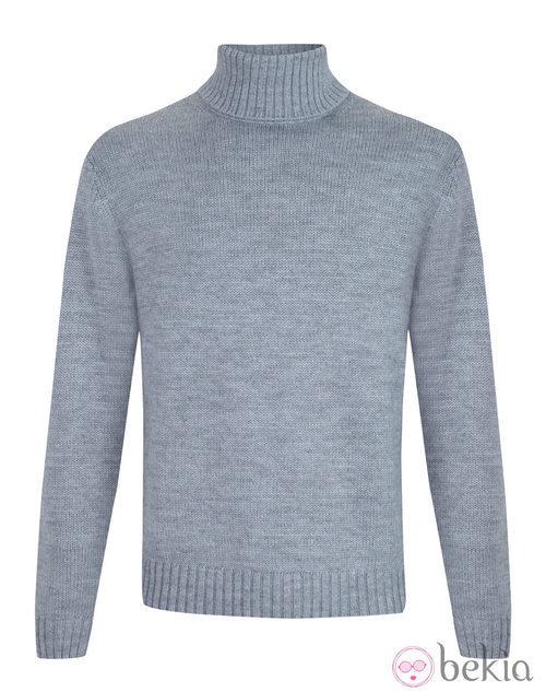 Jersey gris de cuello alto de la colección otoño/invierno 2013/2014 de Emidio Tucci