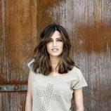 Sara Carbonero con una camiseta de algodón de 'The Hip Tee by Sara'