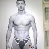 Cristiano Ronaldo durante la presentación de su línea de ropa interior