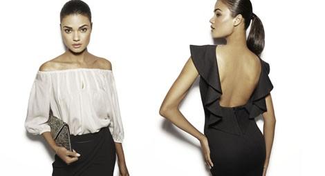 Vestido negro con volante de la colección Fall 2013 de Suiteblanco