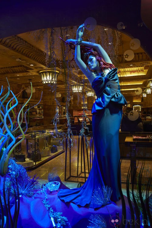 Vestido inspirado en Ariel de La Sirenita de Marchesa en Harrods