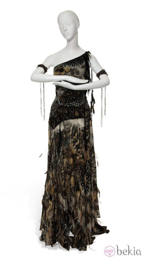 Vestido inspirado en Pocahontas de Roberto Cavalli