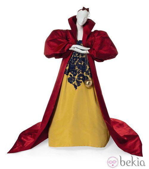 Vestido inspirado en Blancanieves de Oscar de la Renta