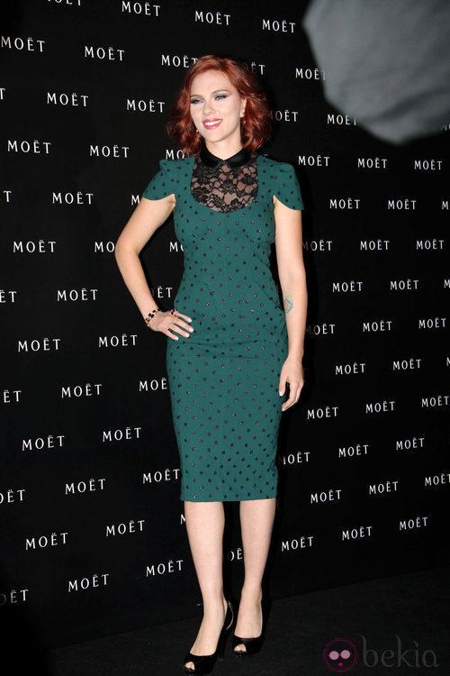 Scarlett Johansson vestida de Marc Jacobs en Shanghai
