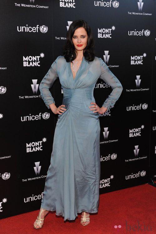 Eva Green de Alberta Ferretti en la fiesta previa a los Oscar de The Weinstein Company