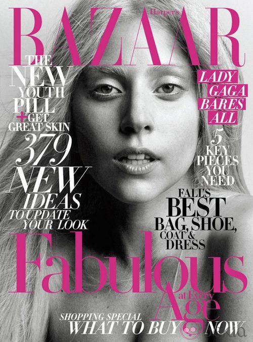 Lady Gaga, portada de Harper's Bazaar USA en octubre de 2011
