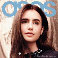 Lily Collins, portada de ASOS en octubre de 2011