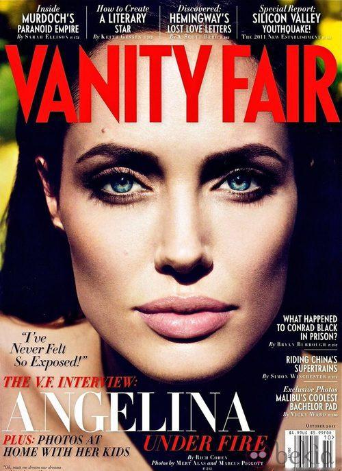 Angelina Jolie, portada de Vanity Fair USA en octubre de 2011