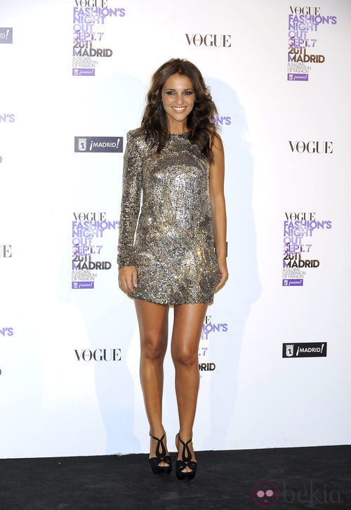 Paula Echevarria de Balmain en la Vogue Fashion's Night Out 2011