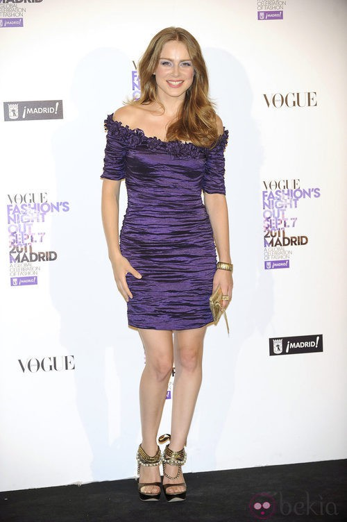 Carla Nieto en la Vogue Fashion's Night Out 2011