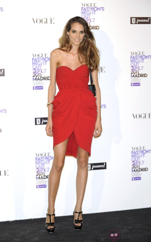 Marina Jamieson de Alma Aguilar en la Vogue Fashion's Night Out 2011