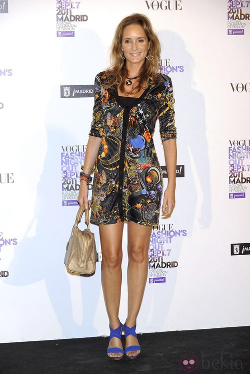 Sandra Ibarra en la Vogue Fashion's Night Out 2011