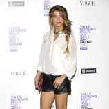 Juana Acosta con shorts de cuero en la Vogue Fashion's Night Out 2011