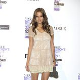 Ana Fernández con vestido lencero en la Vogue Fashion's Night Out 2011