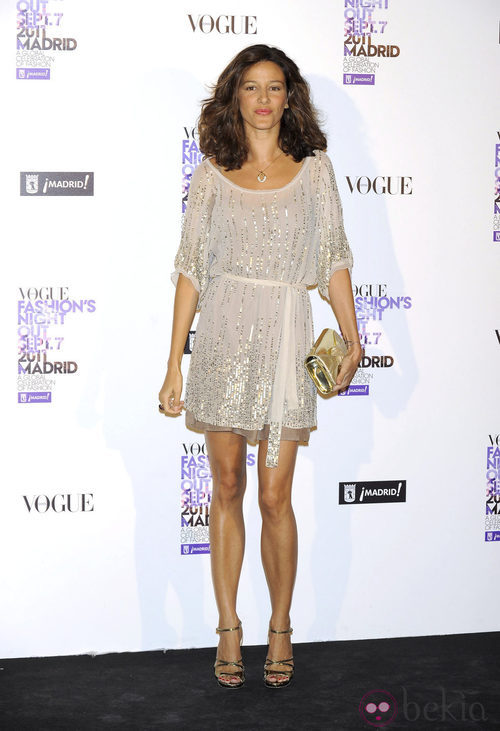 María Jurado con lentejuelas en la Vogue Fashion's Night Out 2011