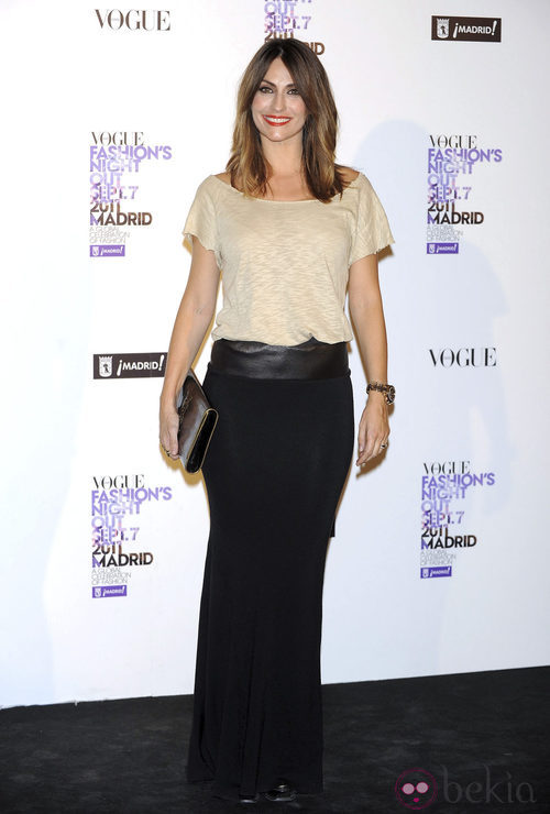 Nagore Aranburu, mujer de Xabi Alonso, en la Vogue Fashion's Night Out 2011