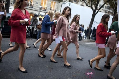 Chicas en la Vogue Fashion's Night Out de Paris