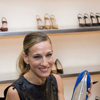 Sarah Jessica Parker en la tienda de Manolo Blahnik durante la Vogue Fashion's Night Out 2011