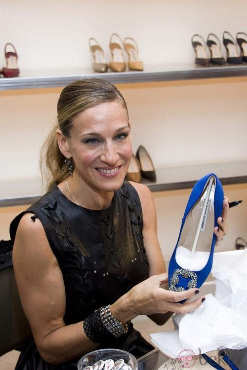 Sarah Jessica Parker en la tienda de Manolo Blahnik durante la Vogue Fashion's Night Out 2011