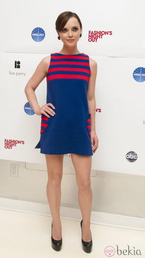 Christina Ricci en la Vogue Fashion's Night Out 2011 de Nueva York