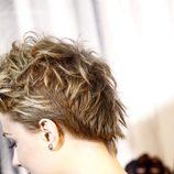Vista posterior del peinado rockero de Evan Rachel Wood