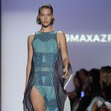 Vestido turquesa con tachuelas de BCBG Max Azria, colección primavera de 2012