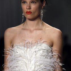 Top con plumas de Jason Wu, colección primavera de 2012