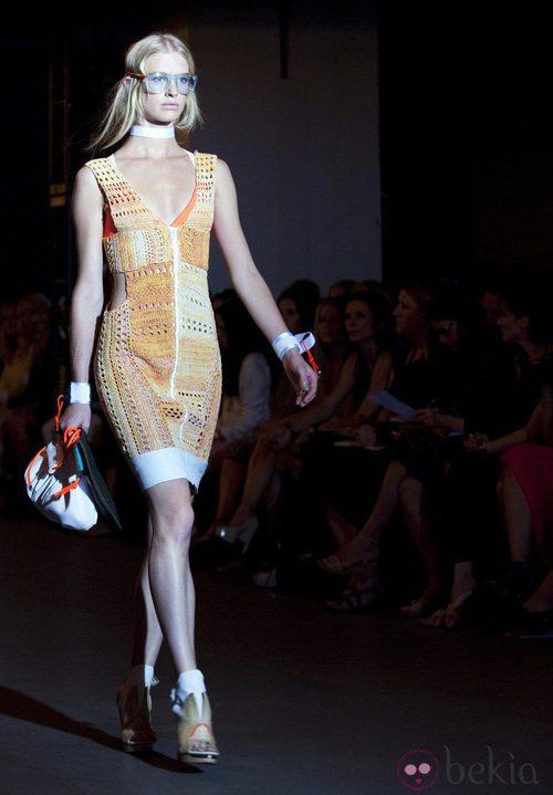 Vestido de encaje naranja de Rag & Bone, colección primavera de 2012