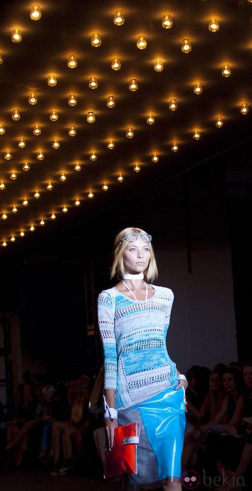 Falda plastificada de Rag & Bone, colección primavera de 2012