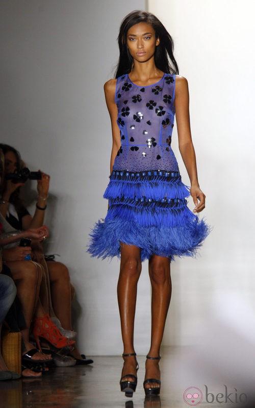 Vestido semitransparente con flecos de Peter Som, colección primavera de 2012