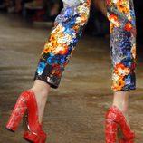 Mocasines rojos de Peter Som, colección primavera de 2012