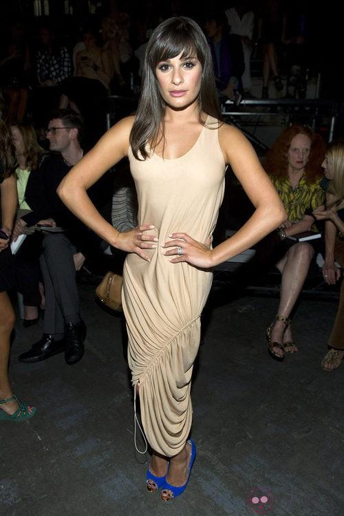 Lea Michele en el desfile de Alexander Wang