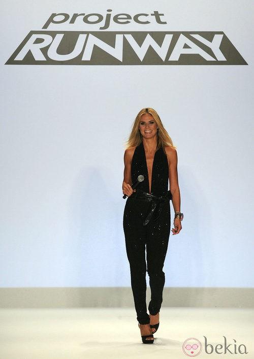 Heidi Klum durante el rodaje del episodio final de la novena temporada de 'Project Runway'
