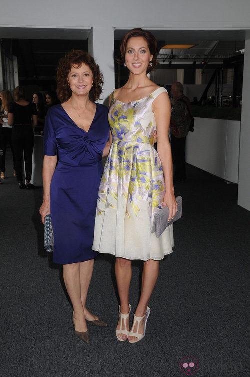 Susan Sarandon y su hija, Eva Amurri, en el desfile de Lela Rose