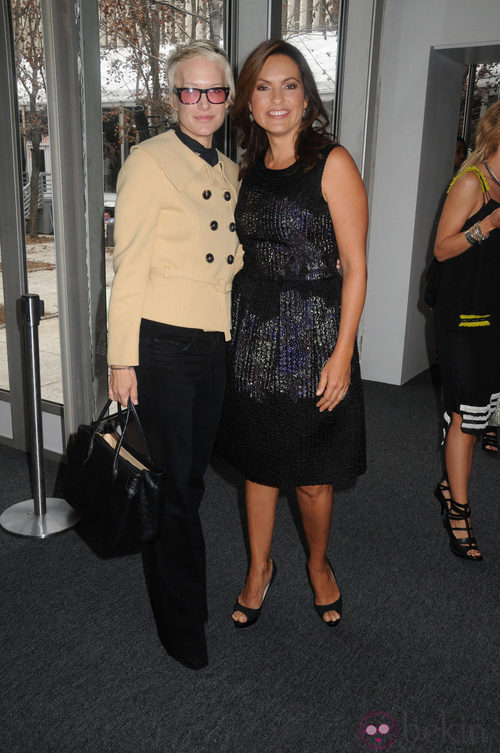 Anna Dello Russo en el desfile de DKNY, colección primavera 2012