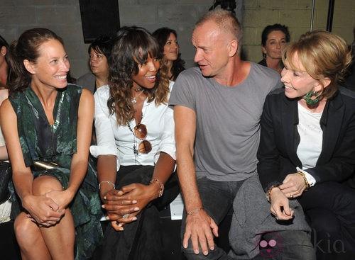 Front row de EDUN en la Semana de la Moda, colecciones para primavera 2012