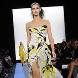 Vestido estampado de Monique Lhuillier, colección primavera de 2012