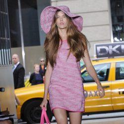 Vestido rosa de DKNY, colección primavera 2012
