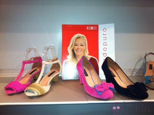 Zapatos diseñados por Belén Esteban para Furiezza