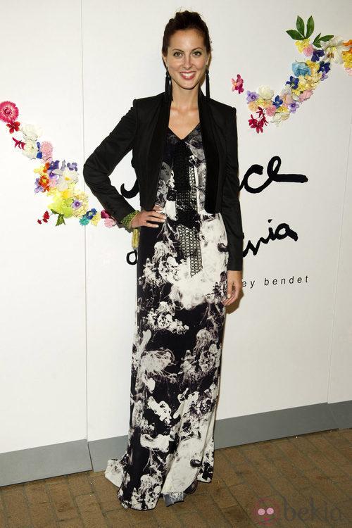 Eva Amurri en el backstage de Stacey Bendet en la Semana de la Moda de Nueva York
