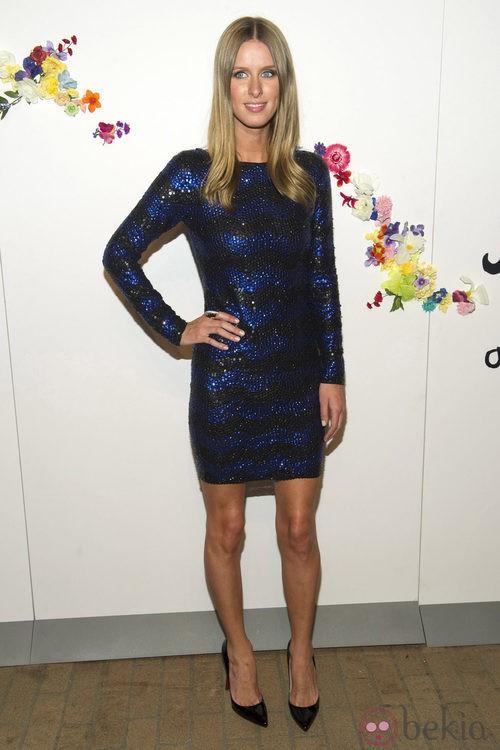 Nicky Hilton en el backstage de Stacey Benet, colección Alice + Olivia para primavera de 2012