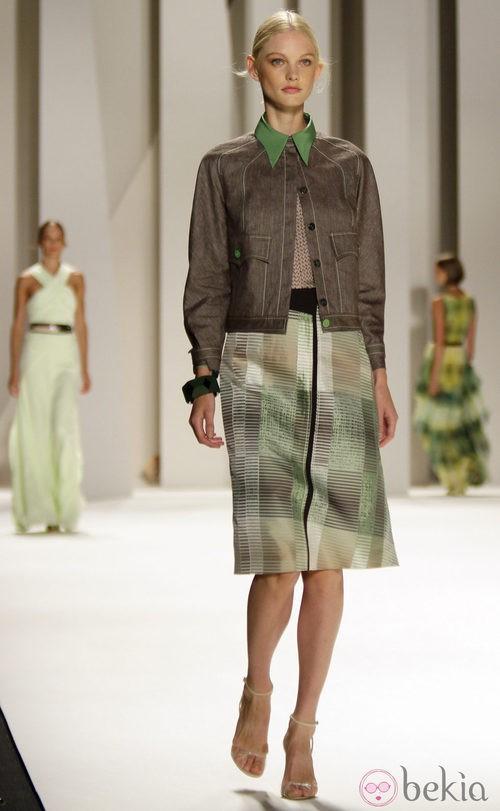 Falda con rayas de Carolina Herrera, colección primavera 2012