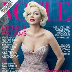 Michelle Williams, portada de Vogue USA en octubre de 2011