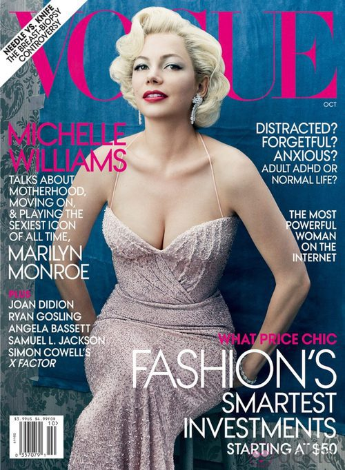 Michelle Williams, portada de Vogue USA en octubre de 2011