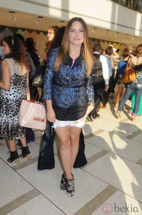 Sophia Bush en la Mercedes-Benz Fashion Week, colecciones de primavera de 2012